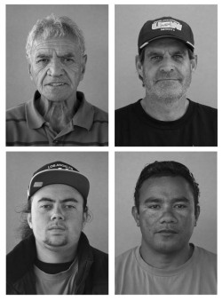 Fiona Jack, Portworkers (Striking Ports of Auckland Workers, 2012), 2012