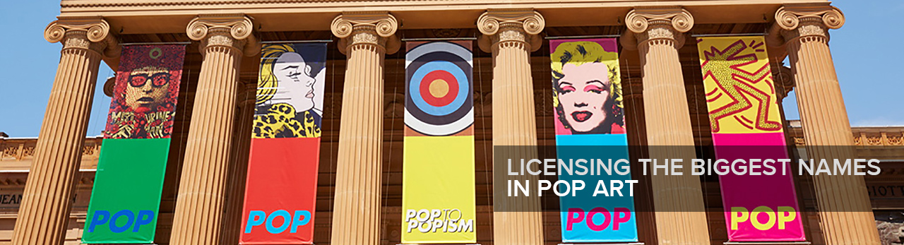Pop to popism banners